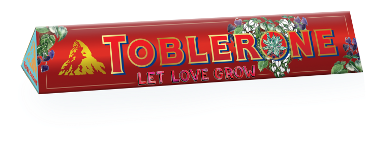 Toblerone Chrunchy Almonds Sleeve designed by Alessa Lanot 100G