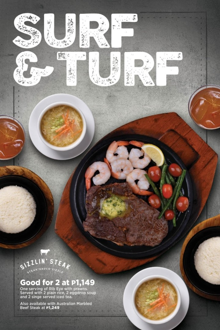 Sizzlin' Steak Surf & Turf for 2