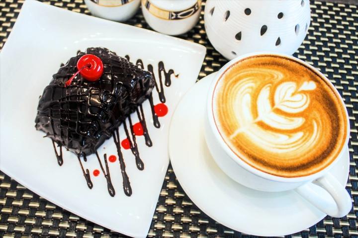 RHI Coffee Pairings - Choco Moist Cake & Cappuccino